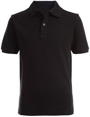 Nautica Short Sleeve Double Pique Polo Uniform Shirt
