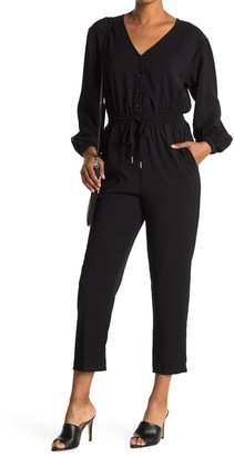 Lush Twill Button Down Jumpsuit