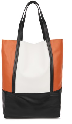 Plan C Large panelled leather tote