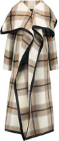 Joseph Azha checked wool and mohair-blend coat