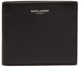 Saint Laurent Bi-fold Leather Wallet - Mens - Black