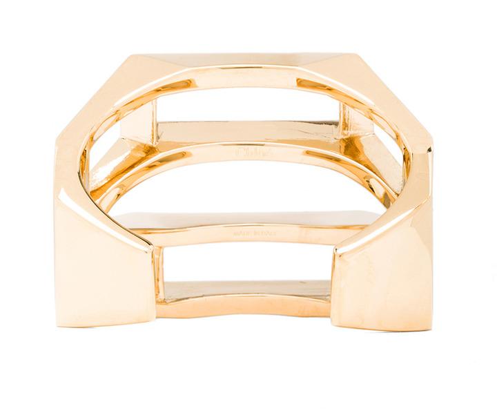 Chloé Bianca Brass Cuff in Gold