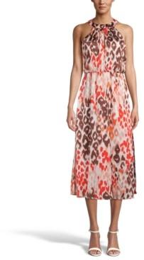 Bar III Printed Chiffon Halter Dress, Created for Macy's