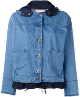 Moncler raw edge denim jacket - women - Cotton/Polyamide - 2