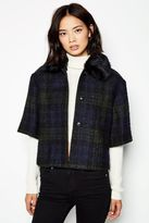 Jack Wills Auckland Checked Cape Jacket