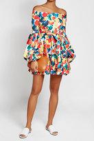Caroline Constas Printed Off-Shoulder Cotton Dress