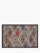 Turtle Mat Stencil Leaf Doormat, Multi