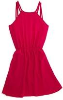 Aqua Girls' Double Strap Knit Dress - Sizes S-XL