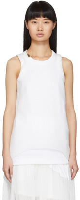 Sacai White Zip Tank Top