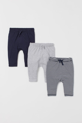 H&M 3-Pack Jersey Trousers