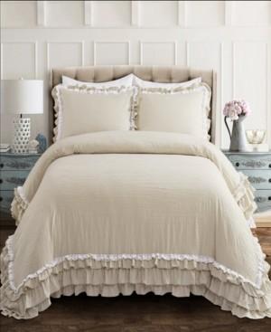 Lush Decor Ella Ruffle Lace 3-Piece Full/Queen Comforter Set Bedding