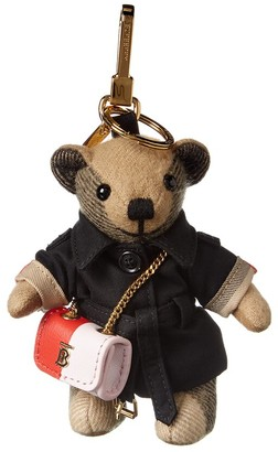 Burberry Thomas Bear Cashmere & Leather Charm