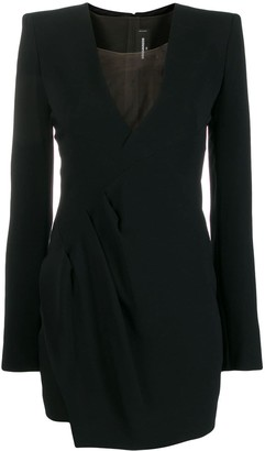 DSQUARED2 V-neck ruched mini dress