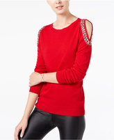red embellished sweater - ShopStyle