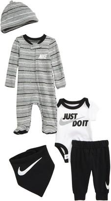 Nike JDI Footie, Bodysuit, Pants, Hat & Bandana Set