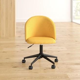 Brayden Studioâ® Kase Task Chair Brayden StudioA Upholstery Color: Yellow