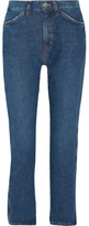 MiH Jeans Cult Cropped High-rise Straight-leg Jeans - Blue