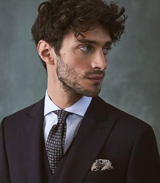 Reiss Washington - Wool Mohair Blend Modern Fit Suit in Navy