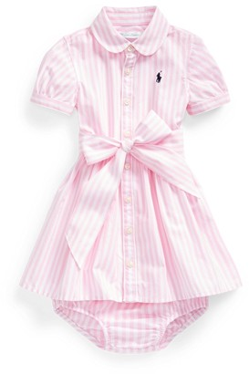 Ralph Lauren Bengal-Stripe Dress & Bloomer