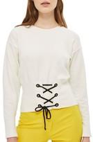 Topshop Petite Women's Corset Front Sweater