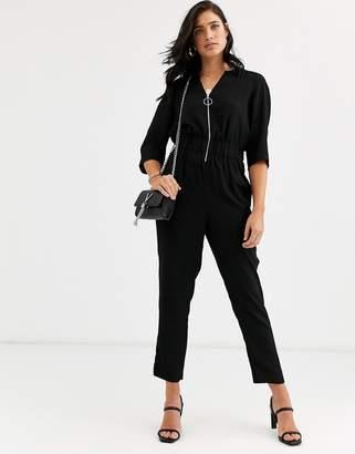 Ted Baker Iiris zip front jumpsuit-Black