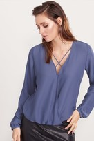 Dynamite Wrap Blouse with Strap Detail
