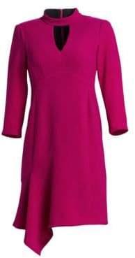 Nanette Lepore Heartthrob Asymmetric Crepe Mini Dress
