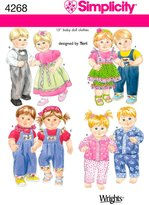Simplicity Sewing Pattern 4268 Doll Clothes, One