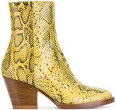 A.F.Vandevorst snake skin effect ankle boots