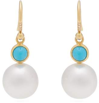 Irene Neuwirth Yellow Gold, Turquoise And Pearl Earrings - Womens - Pearl