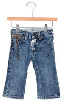 John Galliano Boys' Embroidered Medium Wash Jeans