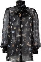 Alexander McQueen 'Obsession' print blouse - women - Silk - 38