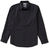 Calvin Klein Infinite Cool Brick Pring Long-Sleeve Woven Shirt