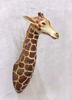 The Well Appointed House Giraffe Head Wall Mount - IN STOCK IN OUR GREENWICH STORE FOR QUICK SHIPPING