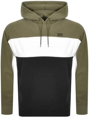 Levi's Levis Colour Block Logo Hoodie Khaki