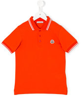 Moncler contrast piping polo shirt - kids - Cotton - 4 yrs