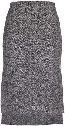 N°21 N.21 Grey Tweed Pencil Skirt