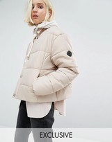 Puffa Oversized Collarless Padded Jacket