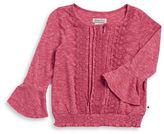 Lucky Brand Girls 7-16 Crocheted Bell Sleeve Top