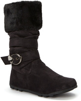 Black Heart Buckle Bella Boot