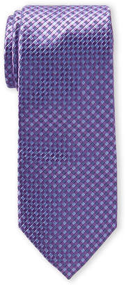 Michael Kors Purple Checkered Silk Tie