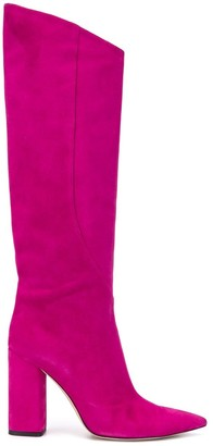Emilio Pucci Angled Suede Boots
