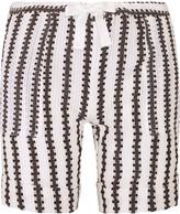 Lemlem Elsabet striped cotton blend-gauze shorts