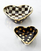 Mackenzie Childs MacKenzie-Childs Large Courtly Check Heart Bowl