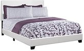 Monarch Specialties I 5911Q Bed with Leather Look Fabric
