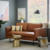 "west elm Axel Leather Loveseat (60.5"")"