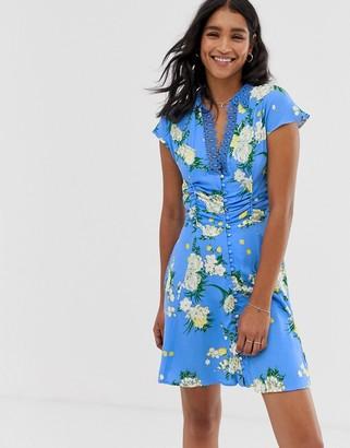 Free People Alora floral print dress-Blue