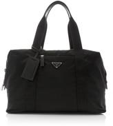 Prada Leather-Trimmed Nylon Duffle Bag