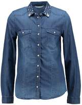 Only Petite ONIKIRA EMB Shirt med blue denim
