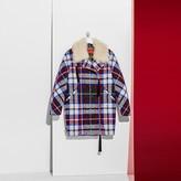Tommy Hilfiger Tartan Wool And Shearling Coat